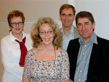 Fyra medlemmar i projektgruppen