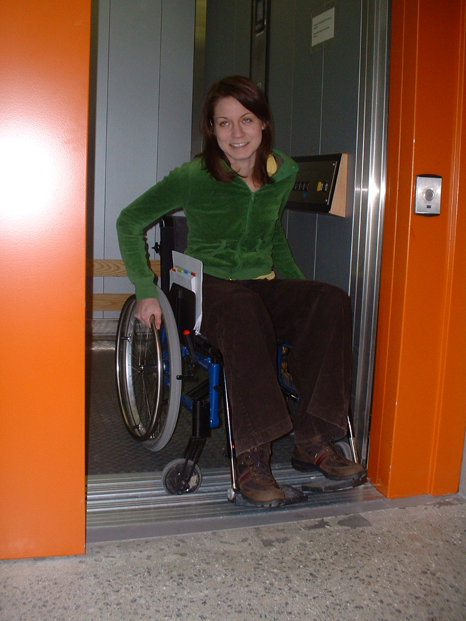 A student in a wheelchair